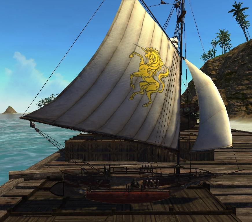 Тримаран с гарпуном ArcheAge