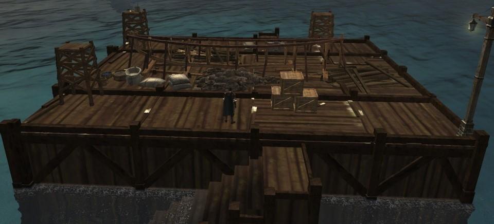 Верфь ArcheAge с древесиной и железом