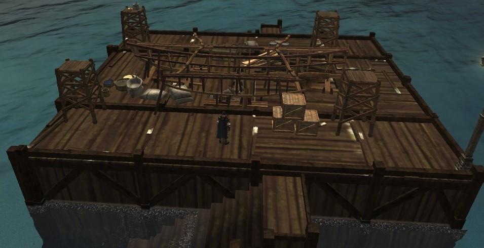 Верфь ArcheAge с древесиной, железом и паком ткани