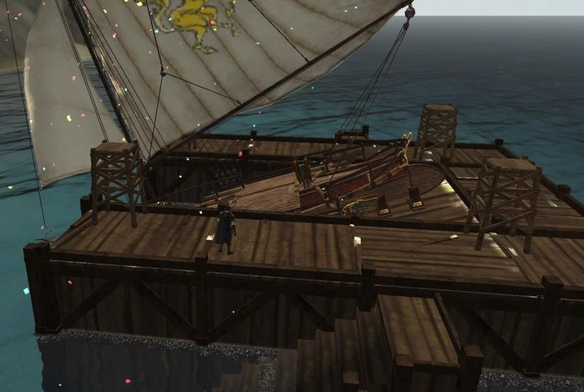 Верфь с тримараном ArcheAge