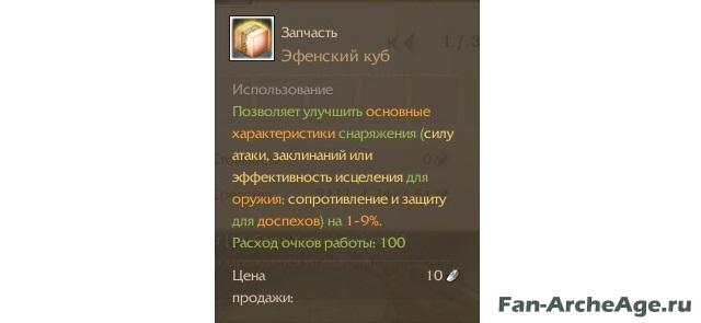 Характеристики эфенского куба fan-archeage.ru
