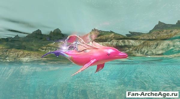 Розовый дельфин - ездовое животное archeage